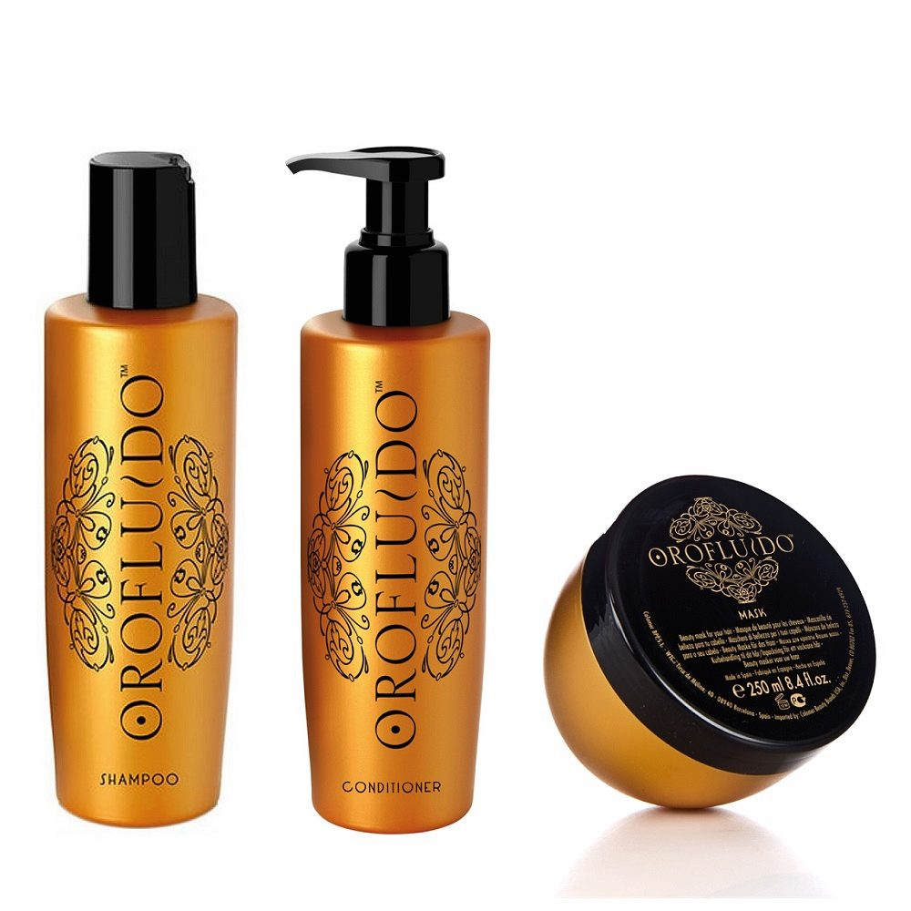 Orofluido Shampoo 200ml Conditioner 200ml  Mask 250ml - Shampoo Conditioner und Maske