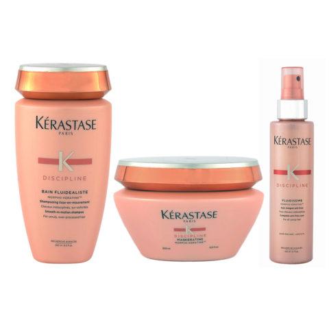 Kerastase Discipline Kit Bain Sehr sensibilisierte Haar 250ml Maskeratine 200ml Fluidissime spray 150ml