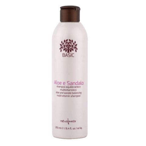 Naturalmente Basic Aloe and sandal Balancing multi-vitamin Shampoo 250ml