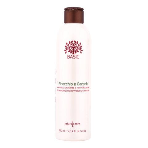 Naturalmente Basic Feuchtigkeitsspendend und Normalisierend Shampoo Fenchel & Geranium 250ml