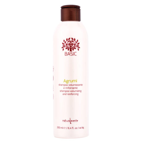 Naturalmente Basic Citrus Shampoo Volumizing and renforcing 250ml - Kräftigendes Volumenshampoo Fruchtsäuren