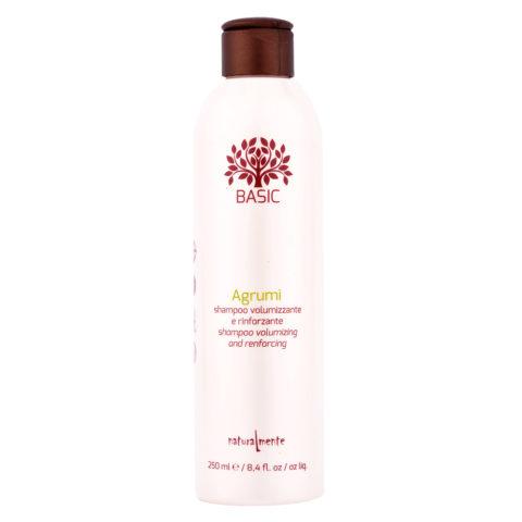 Naturalmente Basic Citrus Shampoo Volumizing and renforcing 250ml - Kräftigendes Volumenshampoo Fruchtsäuren