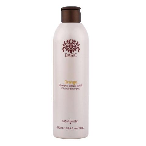 Naturalmente Basic Orange Shampoo Feines Haar 250ml