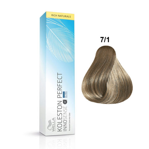 7/1 Mittelblond asch Wella Koleston Perfect innosense Rich naturals 60ml