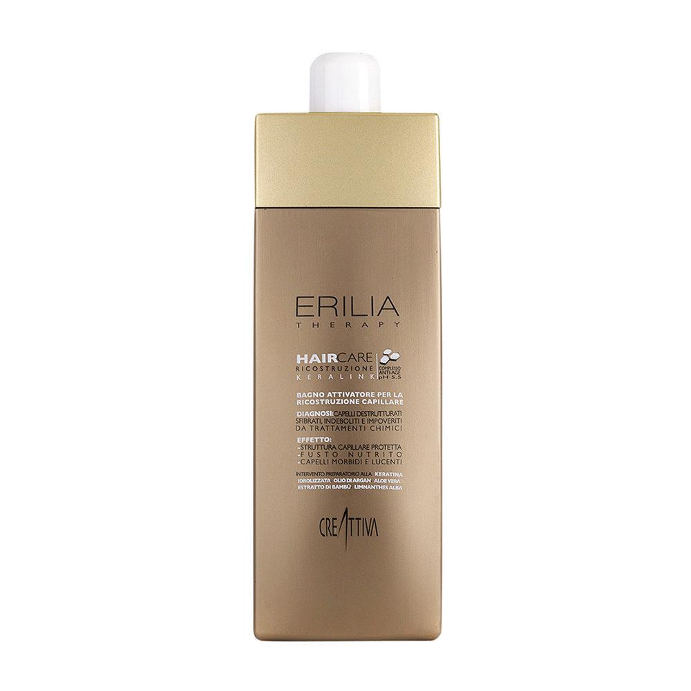 Erilia Haircare Keralink Bagno Attivatore Ricostruzione Capillare 750ml  schützendes Shampoo für beschädigtes Haar