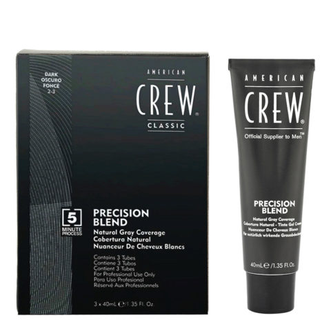 American Crew Classic Precision Blend 2-3 dunkel 3x40ml - Färbung für Männer