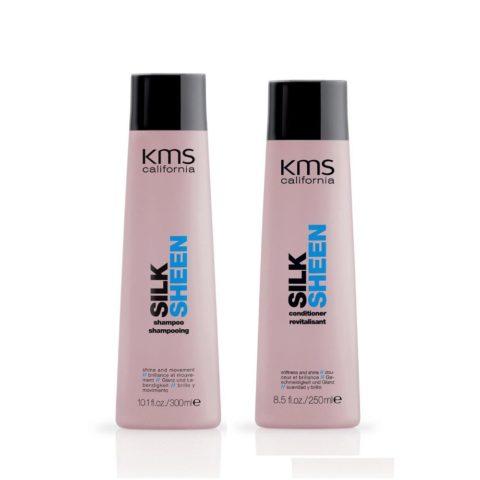 Kms california Kit1 Silksheen Shampoo 300ml Conditioner 250ml