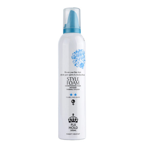 Tecna LMZ Stylish Style foam Blue conditioning foam 300ml - feuchtigkeitspendendes Styling-Mousse für flexiblen Halt