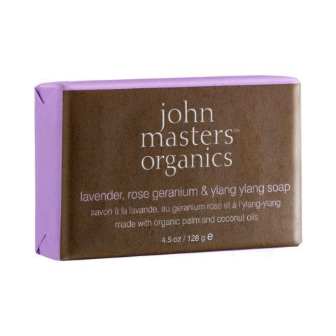 John Masters Organics Lavender, Rose Geranium & Ylang Ylang Soap 128gr