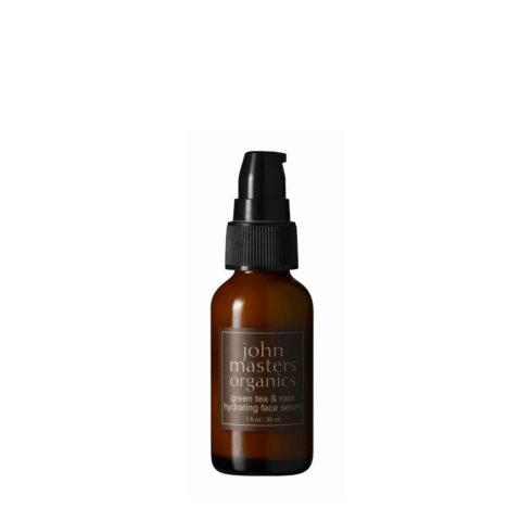 John Masters Organics Green Tea & Rose Hydrating Face Serum 30ml feuchtigkeitsspendende Gesichtscreme