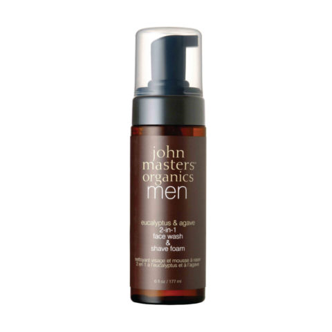 John Masters Organics Eucaliptus & Agave 2-in1 Face Wash & Shave Foam 177ml Rasierschaum und Gesichtsreiniger