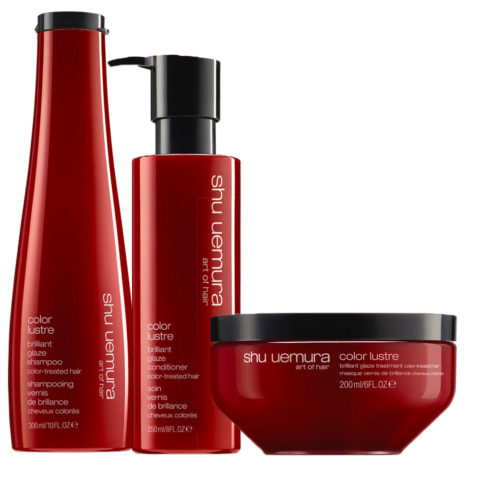 Shu Uemura Color lustre kit shampoo 300ml conditioner 250ml masque 200ml