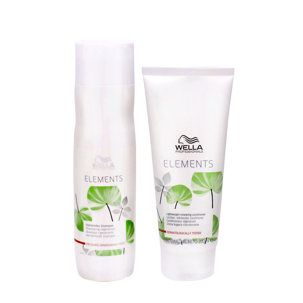 Wella Professionals Elements shampoo 250ml conditioner 200ml