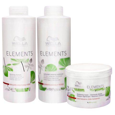 Wella Professionals Elements shampoo 1000ml conditioner 1000ml mask 500ml