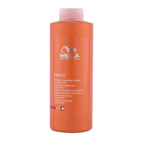Wella Enrich Moisturizing Shampoo 1000ml - dick haar