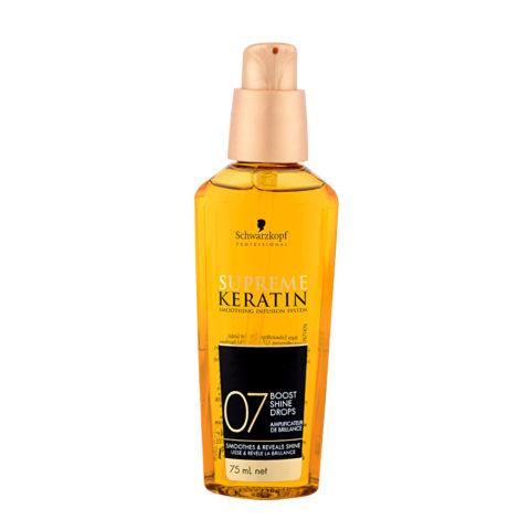Schwarzkopf Supreme Keratin 07 Boost shine drops 75ml - glättender Fluid