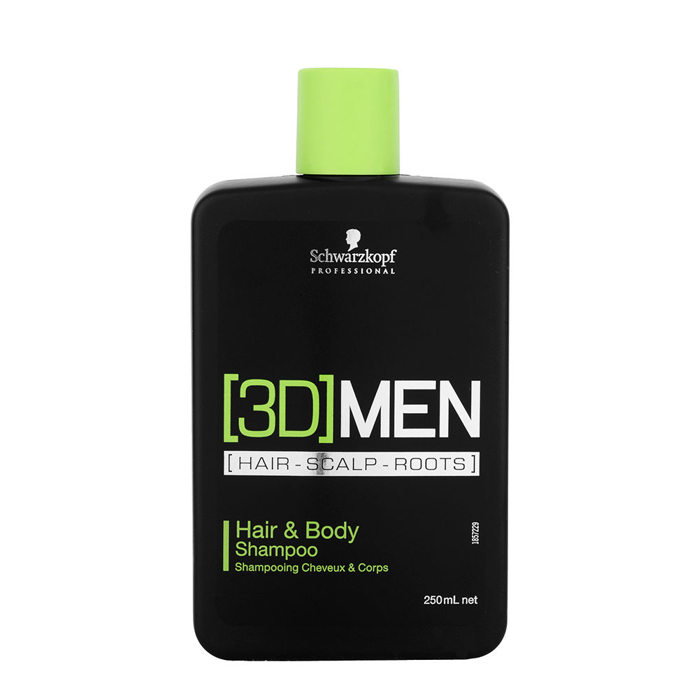 Schwarzkopf [3D]men Care Hair&Body Shampoo 250ml - Haar & Dusch-Shampoo