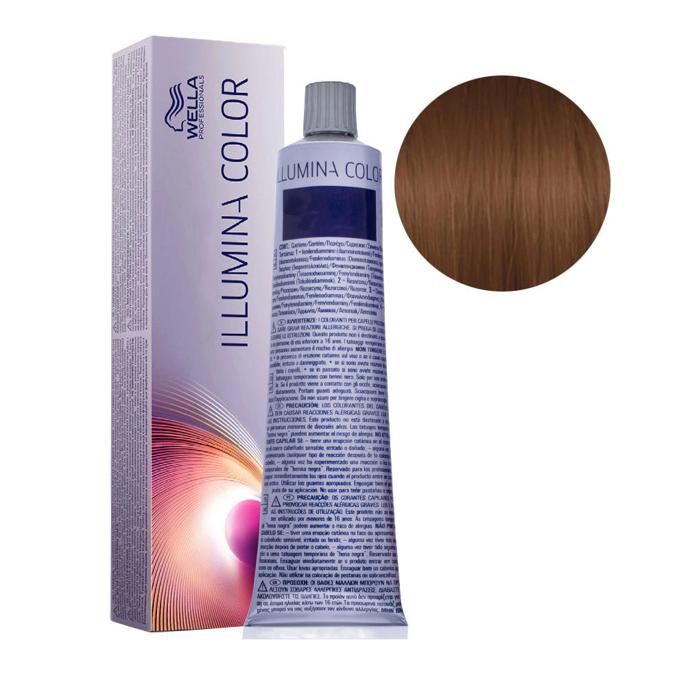 6/37 Dunkelblond gold-braun Wella Illumina Color 60ml