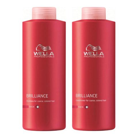 Wella Brilliance Kit Shampoo 1000ml Conditioner 1000ml thick hair