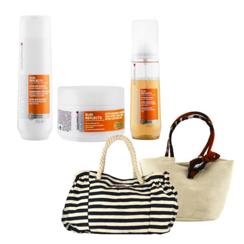 Goldwell Dualsenses Sun reflects Kit Shampoo 250ml Treatment 200ml UV spray 150ml Strandtasche frei!