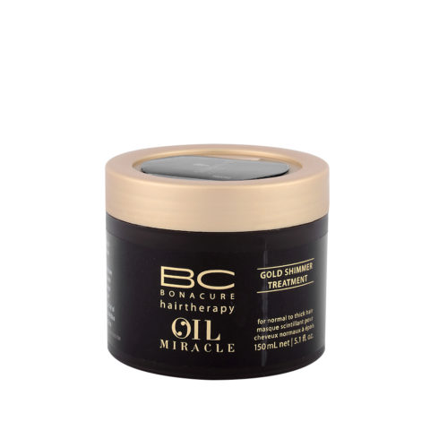 Schwarzkopf Professional BC Oil miracle Gold shimmer Treatment Normal to thick hair 150ml - Restrukturierende Haarmaske