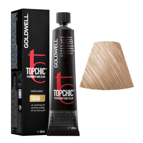 10GB Saharablond pastellbeige Goldwell Topchic Warm blondes tb 60ml