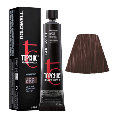 6RB Rotbuche mittel Goldwell Topchic Warm browns tb 60ml