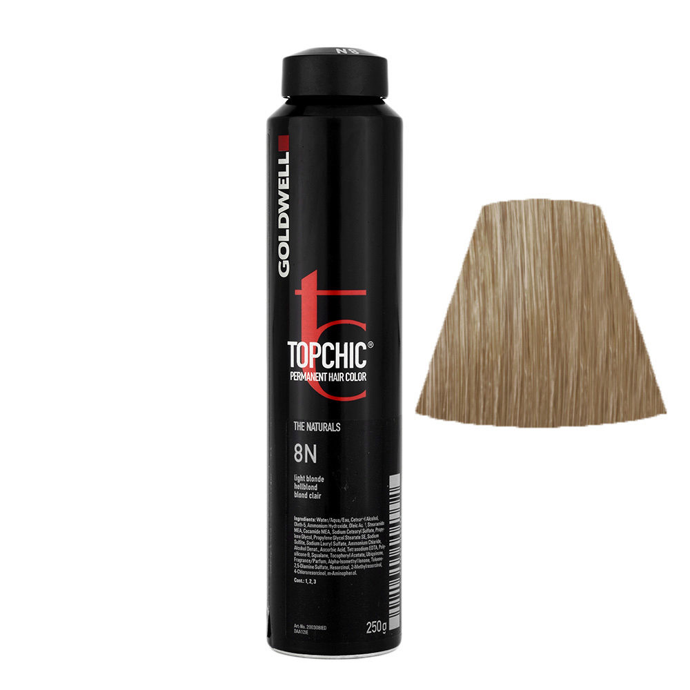 8N Hellblond Goldwell Topchic Naturals can 250gr