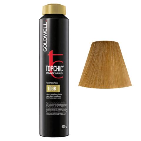 10GB Saharablond pastellbeige Goldwell Topchic Warm blondes can 250gr