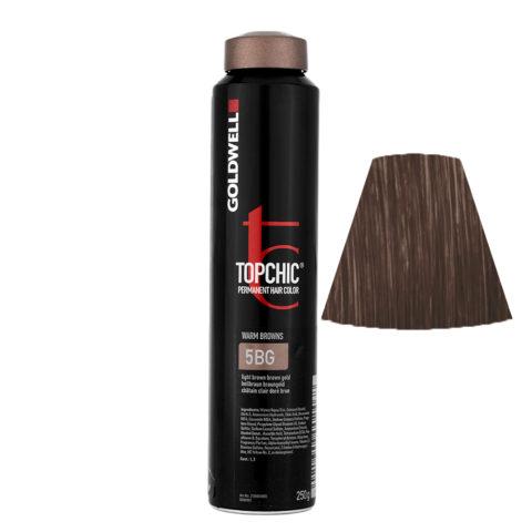5BG Hellbraun braungold Goldwell Topchic Warm browns can 250gr