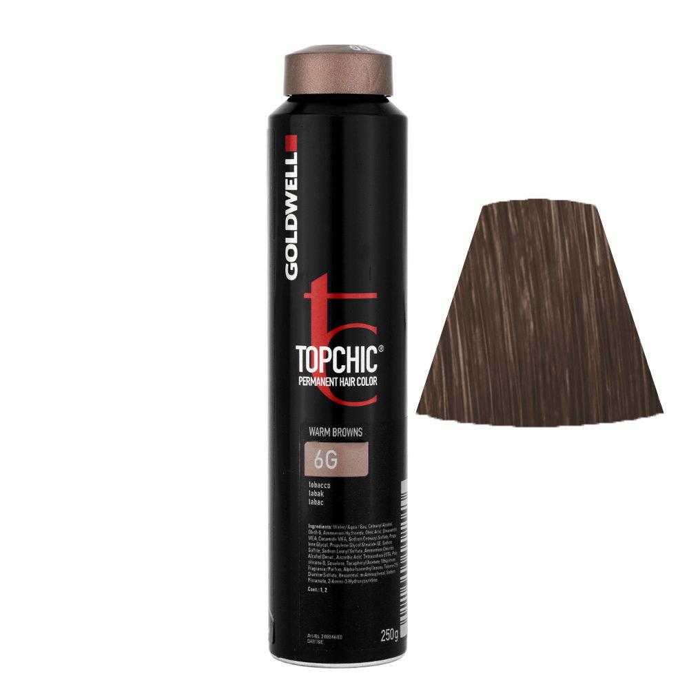 6G Tabak Goldwell Topchic Warm browns can 250gr