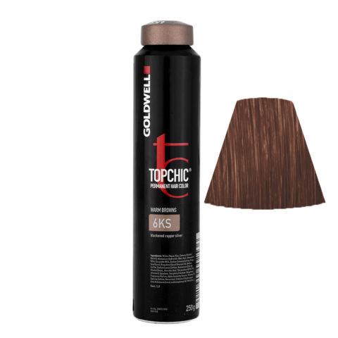 6KS Dunkel kupfer silber Goldwell Topchic Warm browns can 250gr