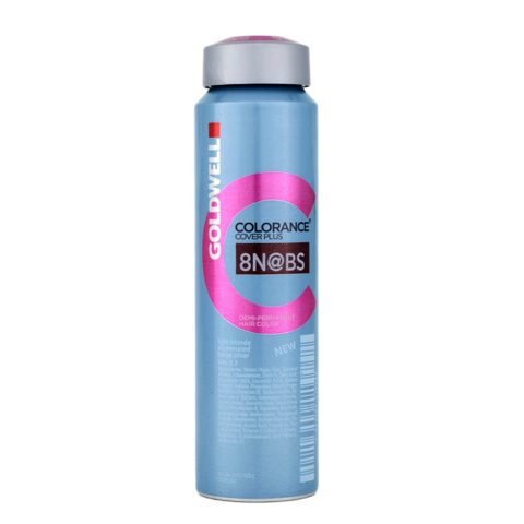 8N@BS light blonde elumenated beige silver Goldwell Colorance Cover plus Elumenated naturals can 120ml