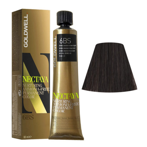 6BS Smoky couture braun hell Goldwell Nectaya Cool browns tb 60ml