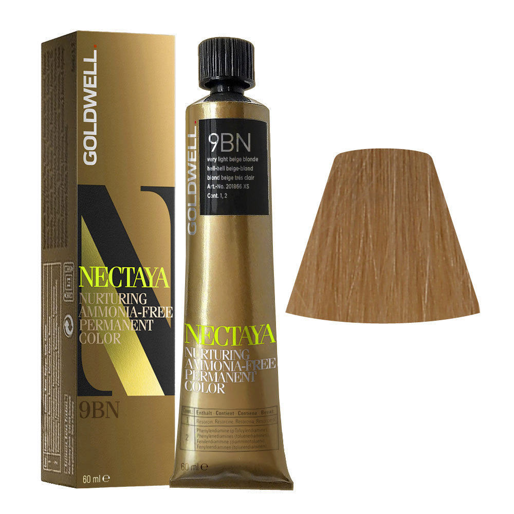 9BN Hell-hell beige-blond Goldwell Nectaya Warm blondes tb 60ml