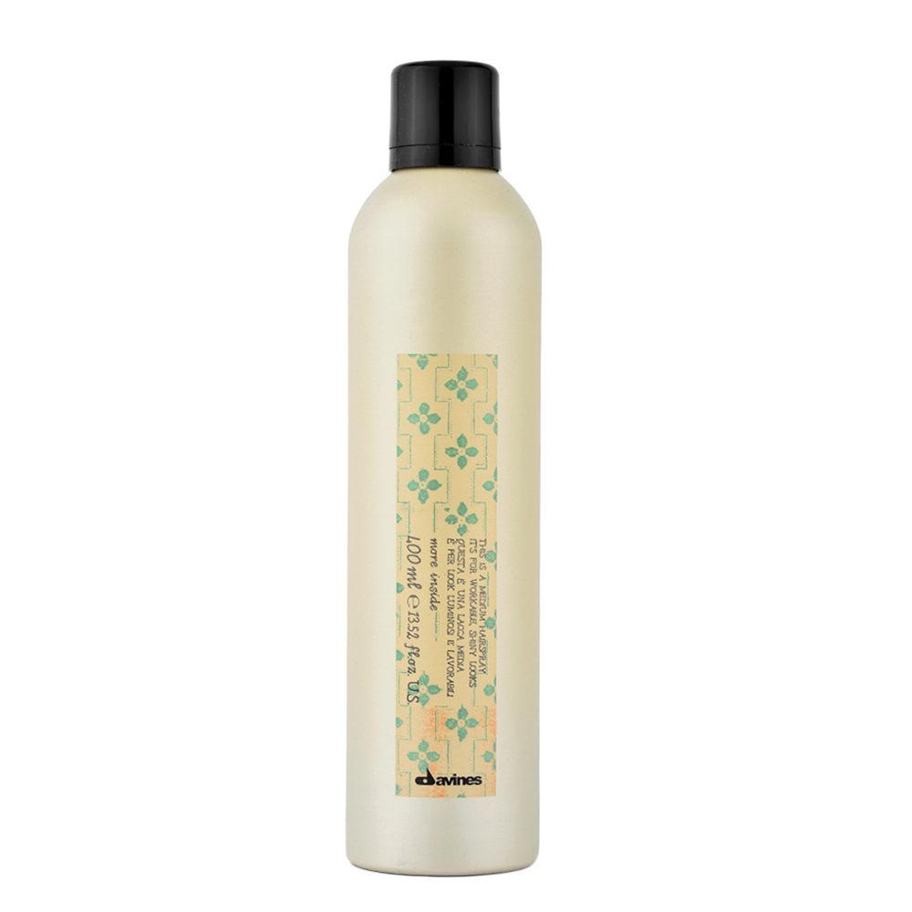 Davines More inside Medium hairspray 400ml - modellierbares finishing-spray