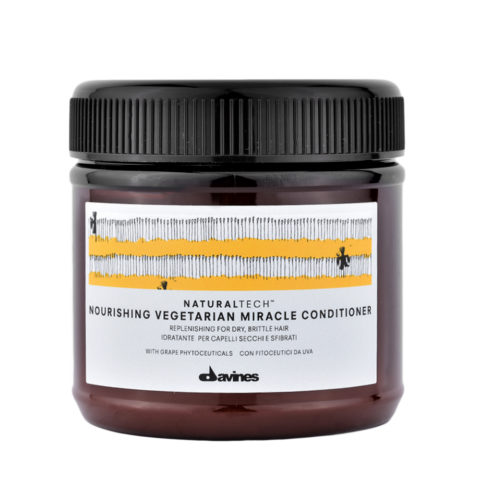 Davines Naturaltech Nourishing Vegetarian Miracle Conditioner 250ml - Restrukturierende Haarmaske