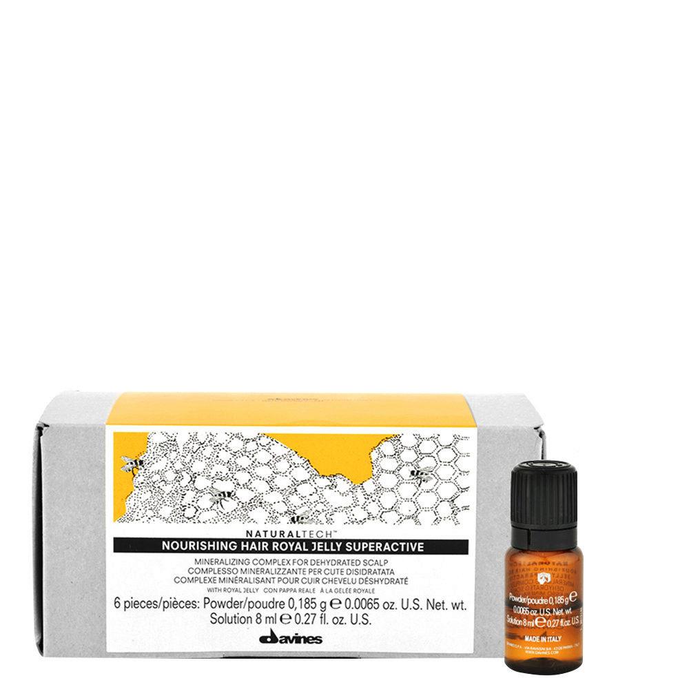 Davines Naturaltech Nourishing Royal Jelly Superactive 6x8ml - Beruhigendes Serum