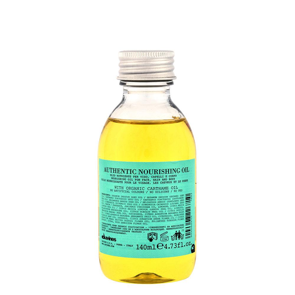 Davines Authentic Nourishing oil 140ml - Revitalisierendes Öl für Haar und Körper
