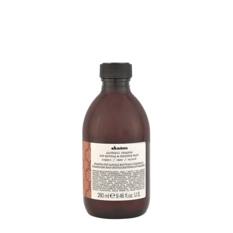 Davines Alchemic Shampoo Copper 280ml - Intensiviert kupferfarbenes Haar