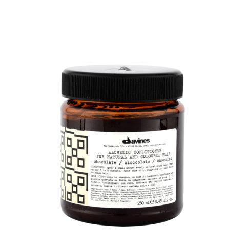 Davines Alchemic Conditioner Chocolate 250ml - Intensivert dunkelbraunes und schwarzes Haar