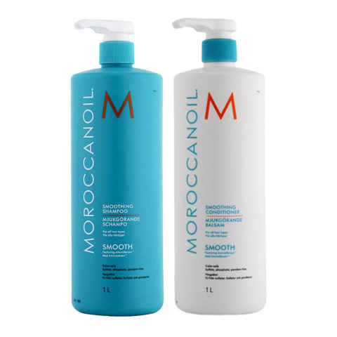 Moroccanoil Smoothing Kit Shampoo 1000ml Conditioner 1000ml