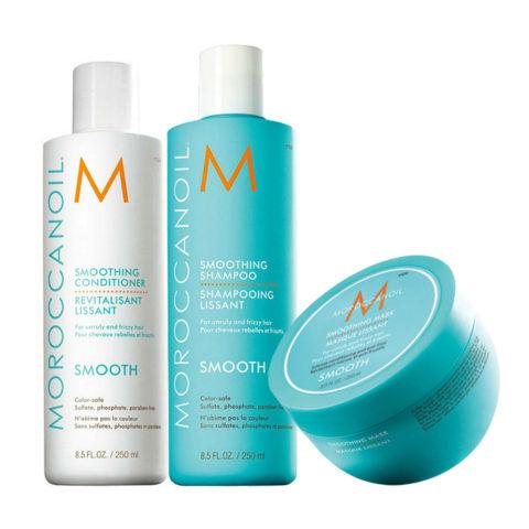 Moroccanoil Smoothing Kit Shampoo 250ml Conditioner 250ml Mask 250ml