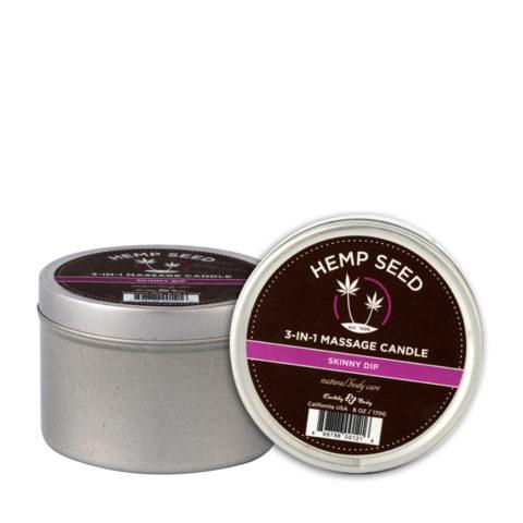 Marrakesh Hemp seed Skinny Dip 3 in 1 massage candle 177ml - Massagekerze