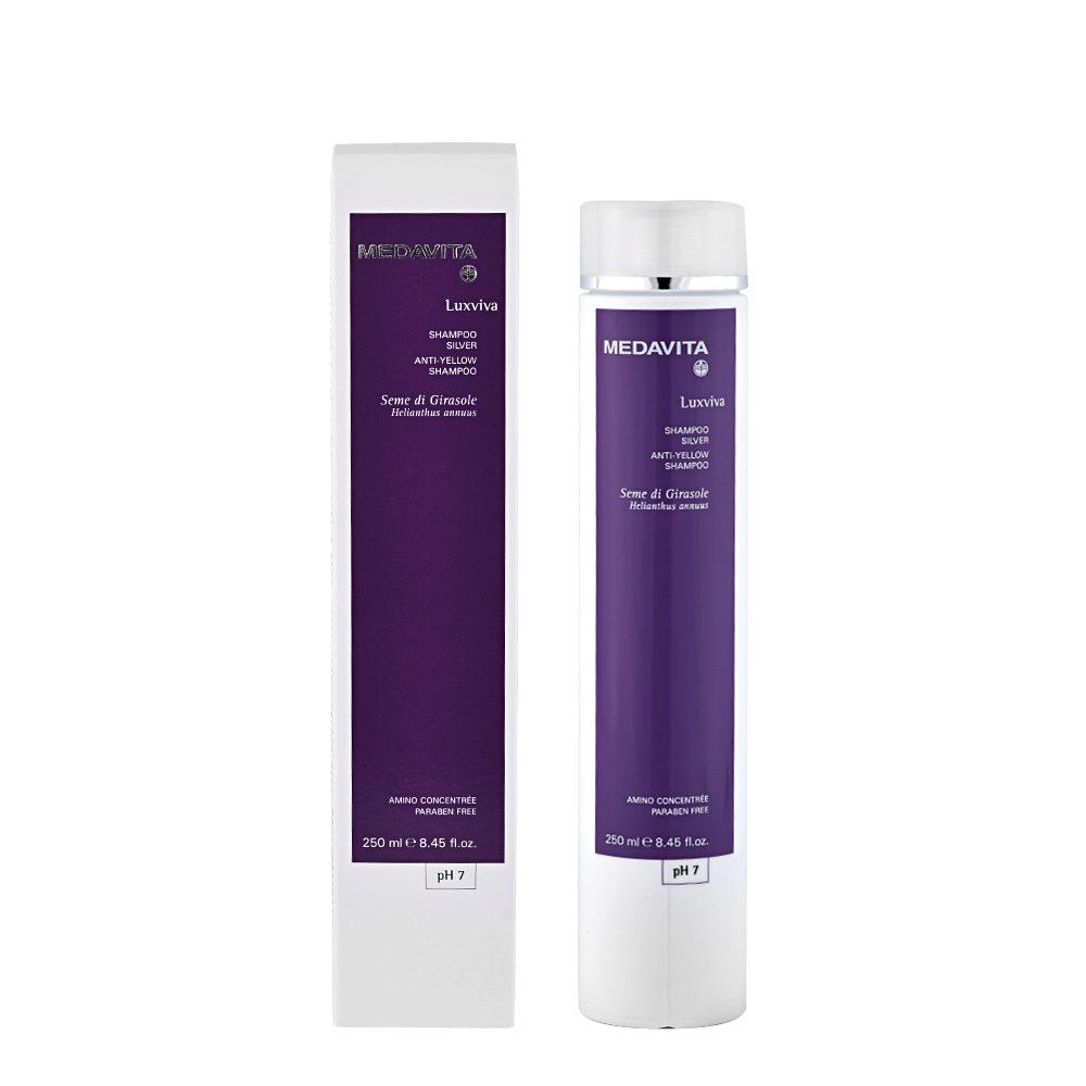 medavita lenghts luxviva anti gelbstich shampoo ph 7 250ml. Black Bedroom Furniture Sets. Home Design Ideas