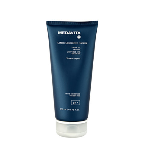 Medavita Cute Lotion concentree homme Light hold hair cream-gel pH 7  200ml