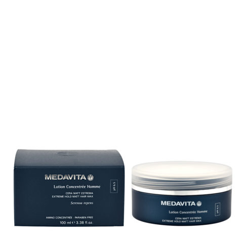 Medavita Cute Lotion concentree homme Extreme hold matt hair wax pH 6.5  100ml
