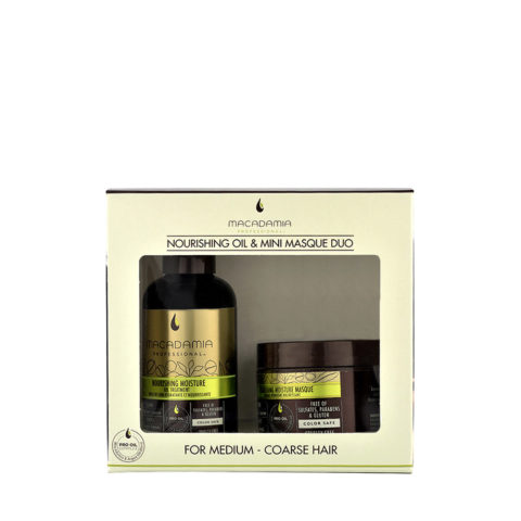 Macadamia Nourishing moisture Duo: Oil treatment 125ml Maske 60ml