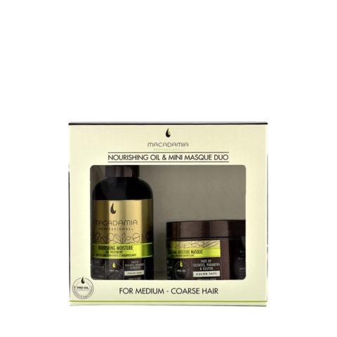 Macadamia Nourishing moisture Duo: Oil treatment 125ml Masque 60ml