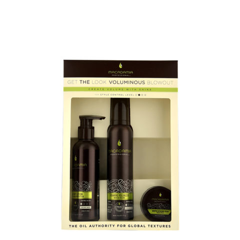 Macadamia Style kit Get the look Voluminous blowout - 3 Stk